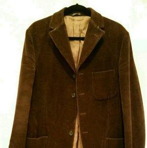 Men's EMILIO VISCONTI BROWN CORDUROY COAT Jacket